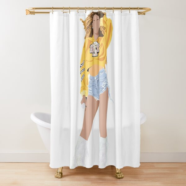 Beyonce, beychella, homecoming, cochella, beyhive, Illustration, female figure, silhouette, destiny's child, 90s, 00s nostalgia  Shower Curtain