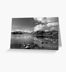 Derwentwater, English Lake District in B&W Greeting Card