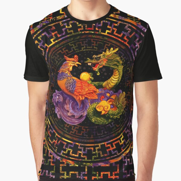 Phoenix and Dragon - in color Graphic T-Shirt