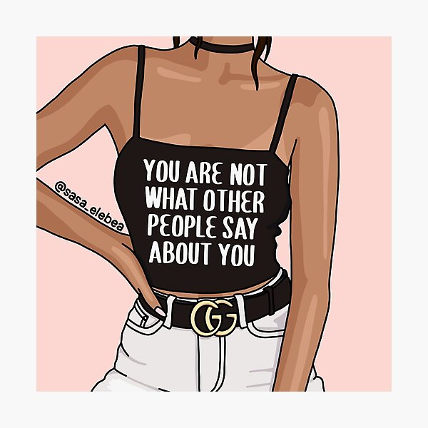You are not by Sasa Elebea Photographic Print