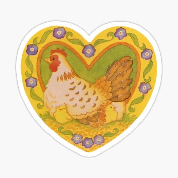 cottagecore chicken Sticker