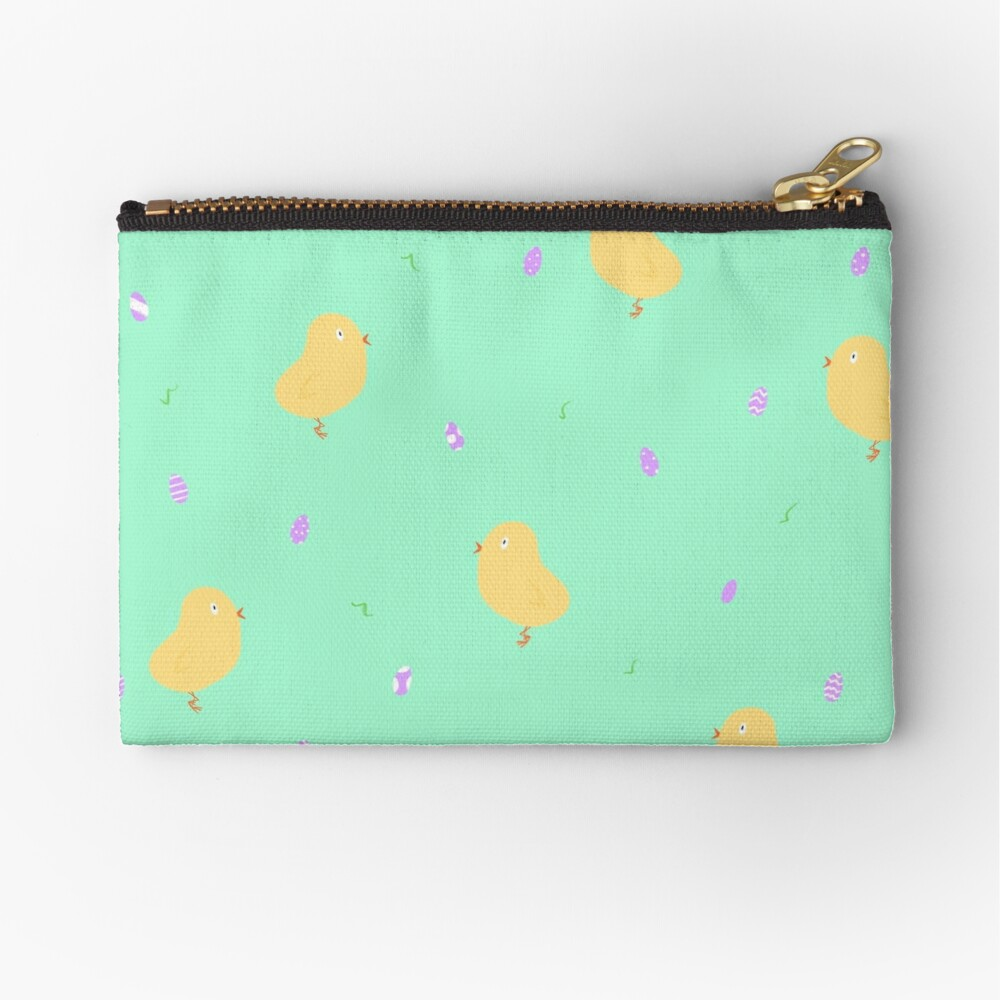 Happy Easter Chicks Zipper Pouch