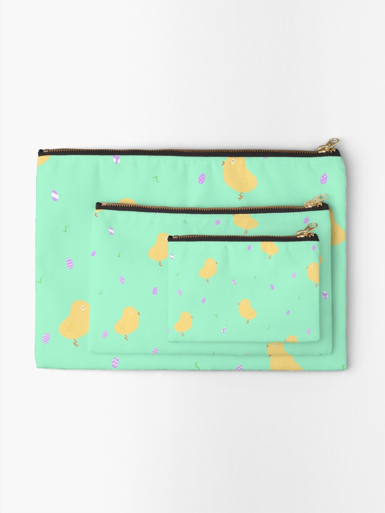Alternate view of Happy Easter Chicks Zipper Pouch