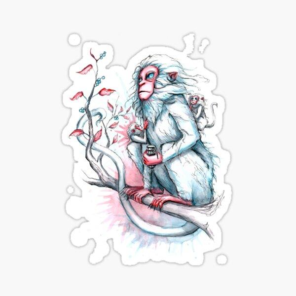 Monkey with granade Sticker