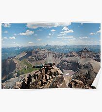 14,000 Ft Plank! ~ On Mount Sneffels  Poster