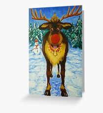 Rudolf the Red Nose Reindeer Greeting Card