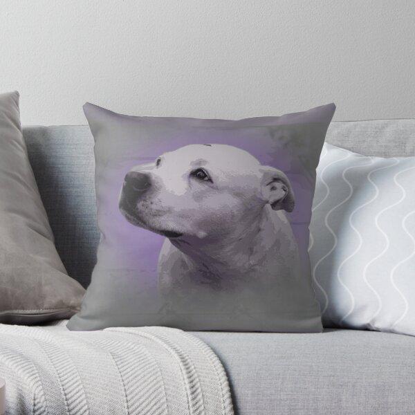 Staffy Study Throw Pillow