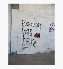 Banksey Photographic Print