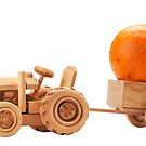 Toy tractor with orange pumpkin. by fotorobs
