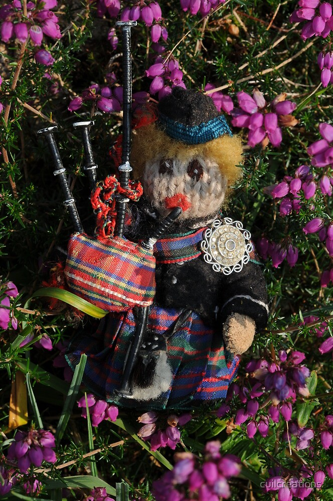 Scotty in the Bell Heather by cuilcreations