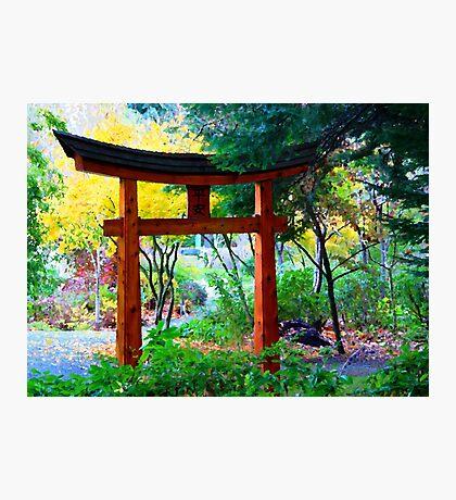 Mayne Island Japanese Garden  Photographic Print