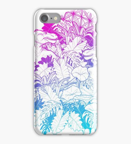 T Rex Pink and Blue iPhone Case/Skin