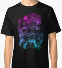 T Rex Pink and Blue Classic T-Shirt