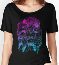 T Rex Pink and Blue Women's Relaxed Fit T-Shirt