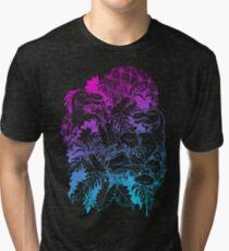 T Rex Pink and Blue Tri-blend T-Shirt