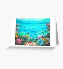 DEEP END OF THE SEA  Greeting Card