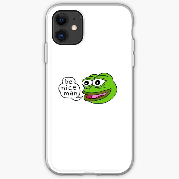 Pepe Frog Be Nice Man Meme iPhone Soft Case