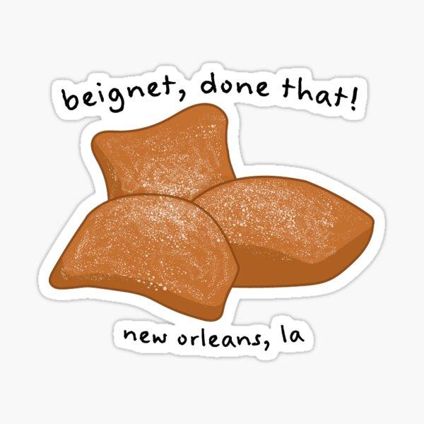 New Orleans Beignet Sticker Sticker