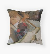 Mad Guitar Player goes Boating Throw Pillow