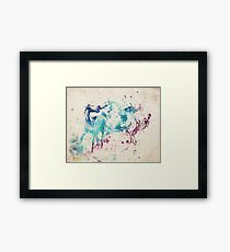 Watercolor Horses Framed Print