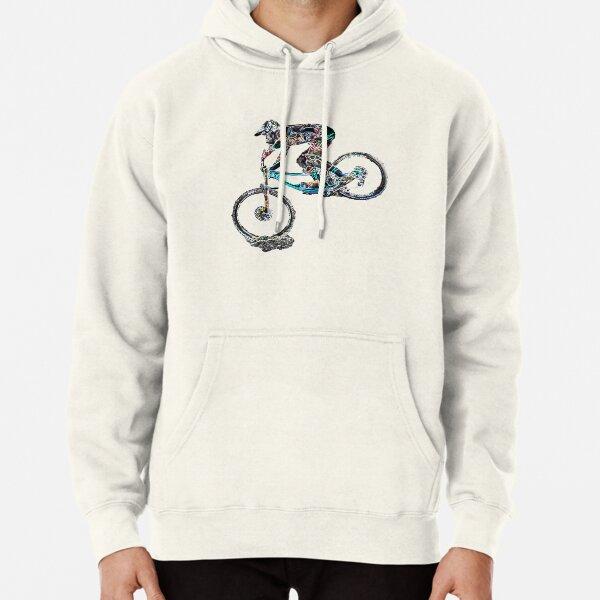 downhill mountain biking Pullover Hoodie
