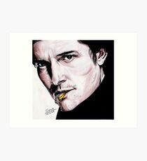 Orlando Bloom, British actor. Art Print