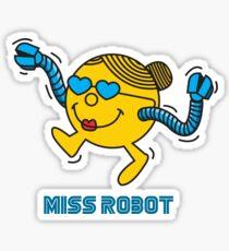 Miss Robot Sticker