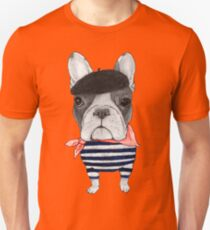 Frenchie With Arc de Triomphe Unisex T-Shirt