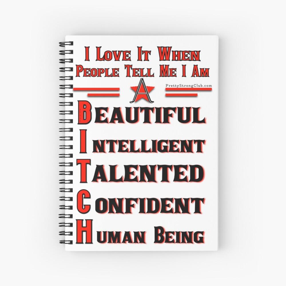 Beauty Intelligent Talented Confident Human Being Spiral Notebook