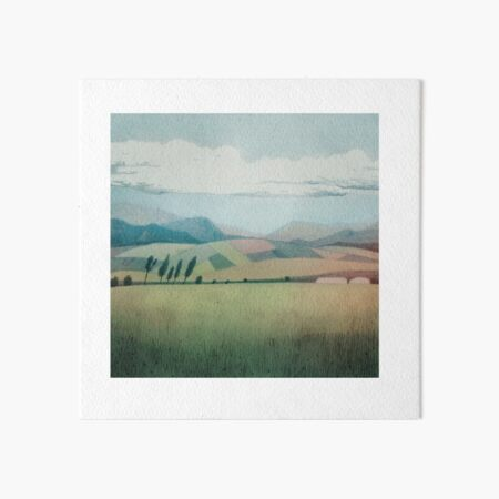 Landscapes of the World Art Board Print