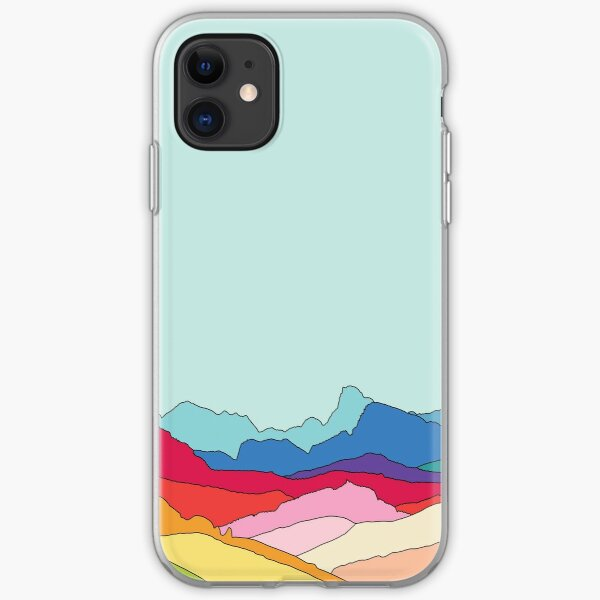 Rainbow mountains by Elebea iPhone Soft Case