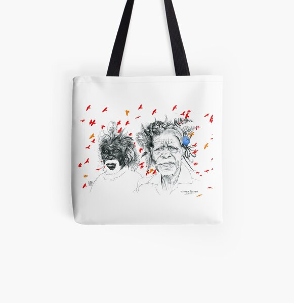 Sunmen with the Birds All Over Print Tote Bag