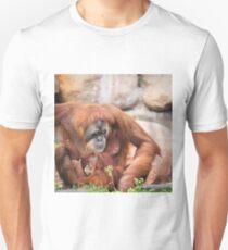 Mama orangutan and baby T-Shirt