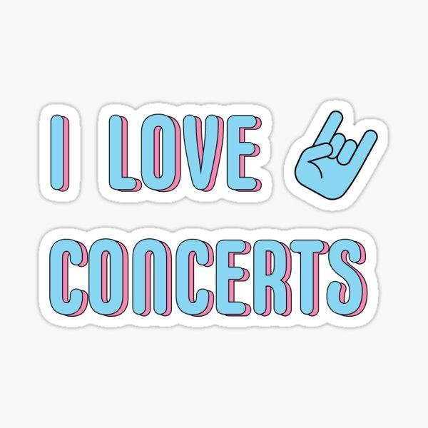I LOVE CONCERT ROCK ON HAND SYMBOL Sticker