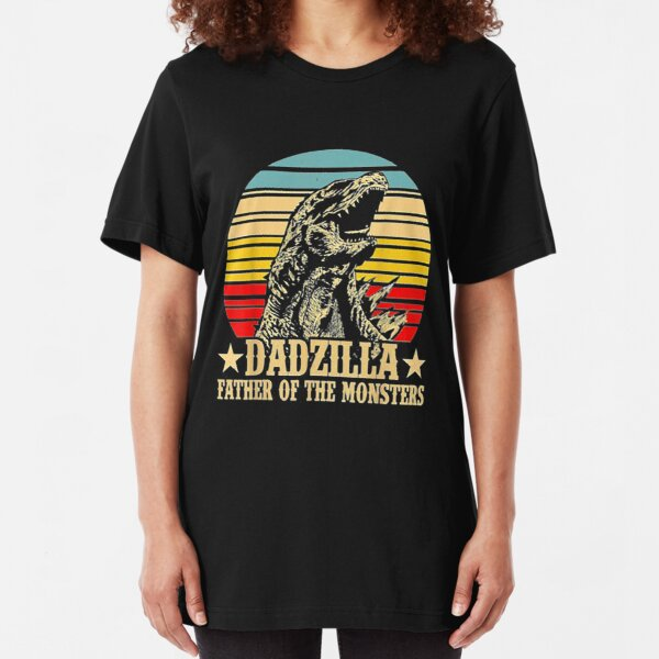 Dadzilla Father Of The Monsters Retro  Slim Fit T-Shirt
