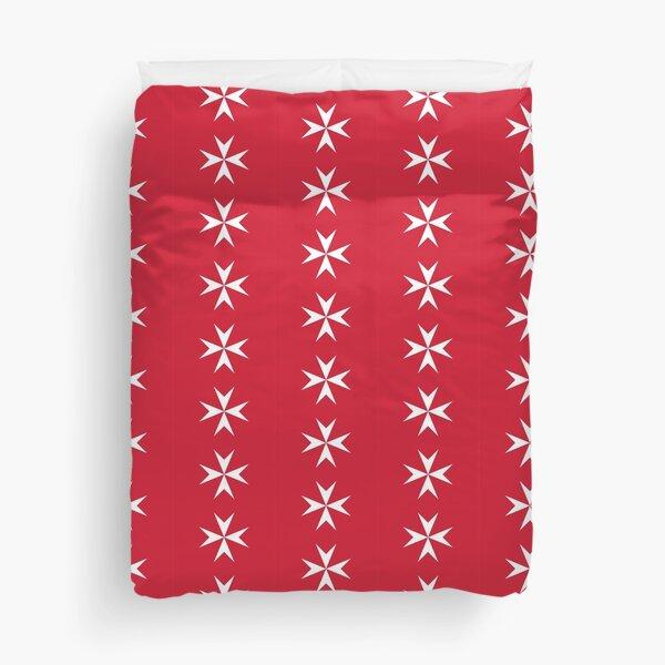 MALTA. Pattern, Civil ensign of Malta. MALTESE. Duvet Cover