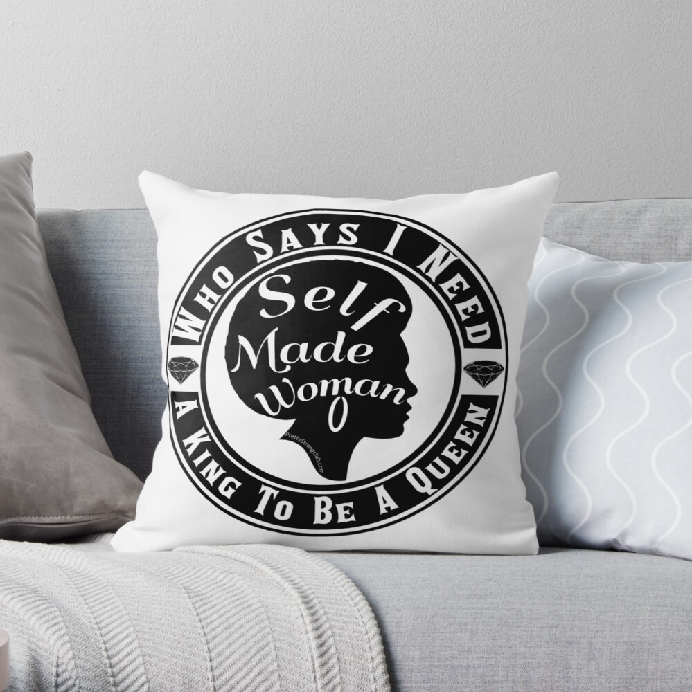 Who Says I Need A King Throw Pillow