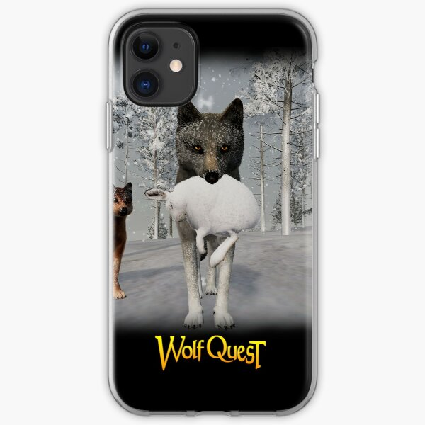 Hunting Hares in Winter iPhone Soft Case