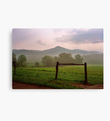Early Morning - Cades Cove, Tennessee Canvas Print