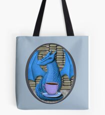 Blue Book Hoarding Dragon with Tea Tote Bag