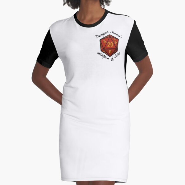 Dungeon Master's Weapon of Choice Graphic T-Shirt Dress