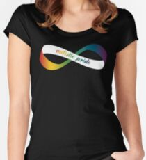 Autistic Pride Infinity Möbius Women's Fitted Scoop T-Shirt