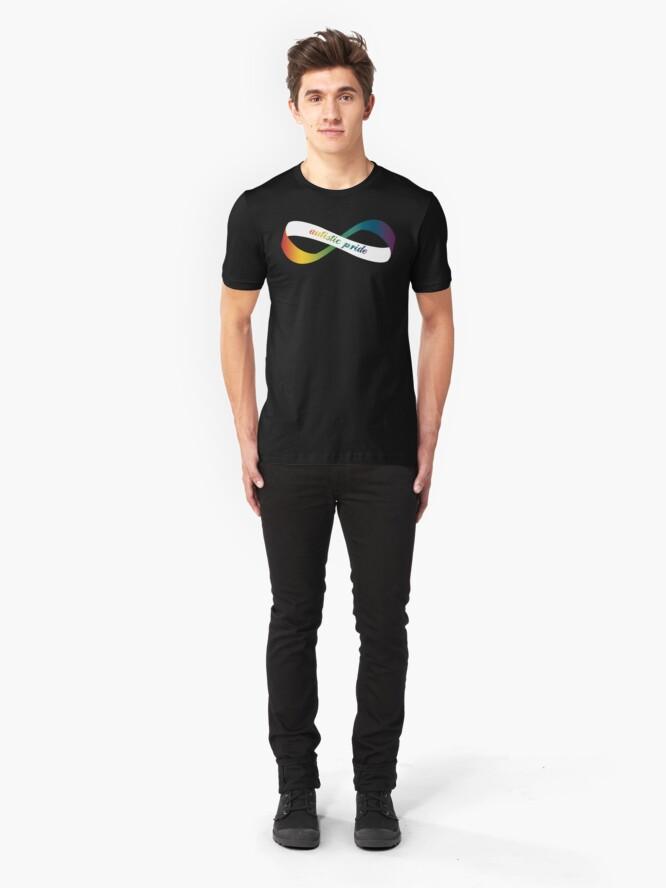 Alternate view of Autistic Pride Infinity Möbius Slim Fit T-Shirt