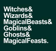 Very Potter Musical Lyrics in white.