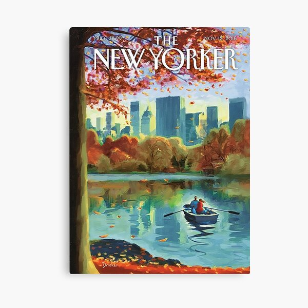 The New Yorker- Beautiful Fall Season Painting (Autumn Art) ♥ Nov 2018 Canvas Print