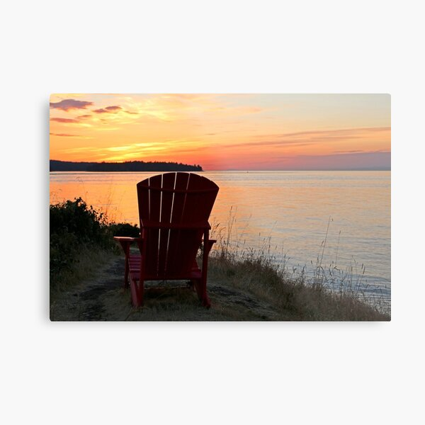 End of another Mayne Island Day Metal Print