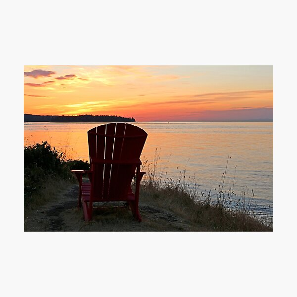 End of another Mayne Island Day Photographic Print