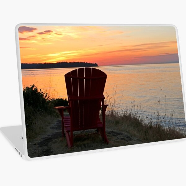 End of another Mayne Island Day Laptop Skin