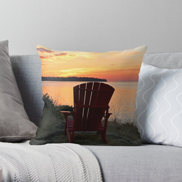 End of another Mayne Island Day Throw Pillow