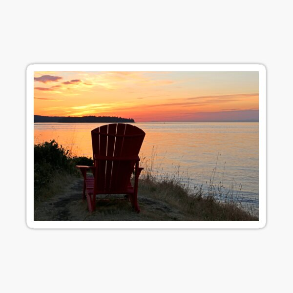 End of another Mayne Island Day Sticker